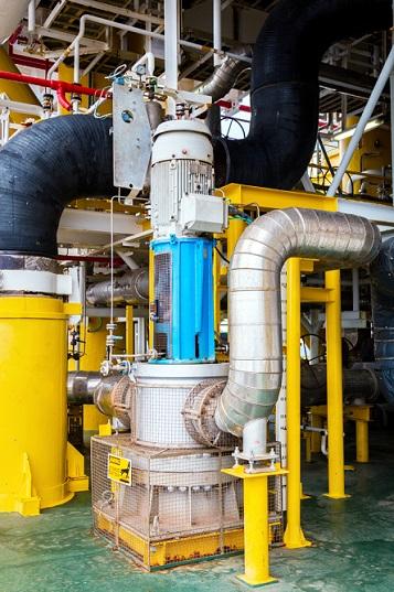 Vertical pump motor for industrial pump repair