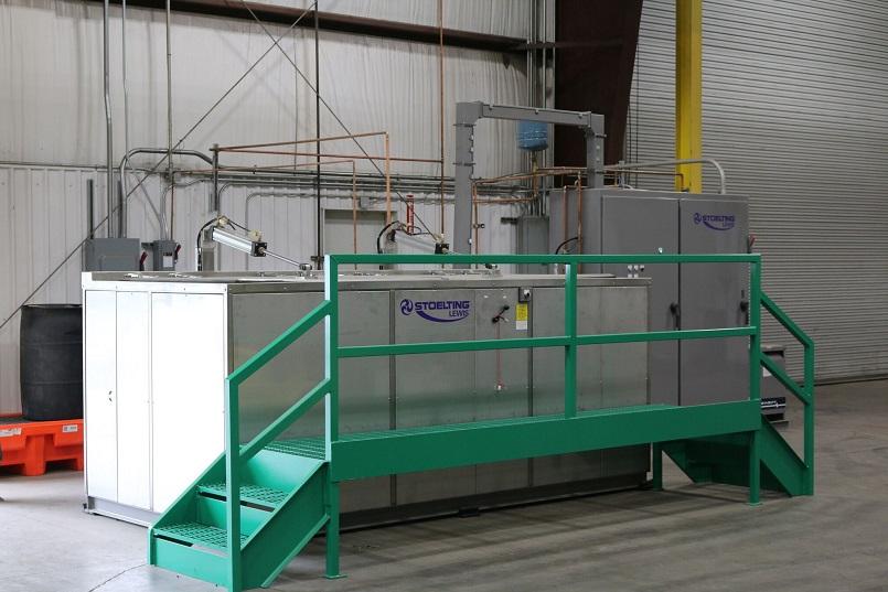 UItrasonic cleaner for electric motor repair